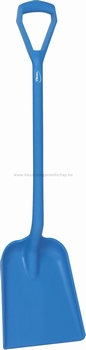 Schop D-greep - 1040 mm plat blad - 270 x 330 x 50 mm blauw