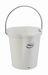 Emmer 6 liter: 255 x 257 x 246 mm. Wit